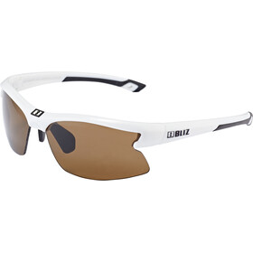 Bliz Motion Glasses for Small Faces, shiny white/amber